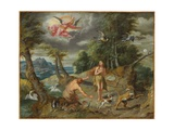 The Expulsion from Paradise, from the Story of Adam and Eve Giclee Print by Jan the Younger Brueghel