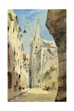 St Séverin, Paris, 1831 Giclee Print by James Holland