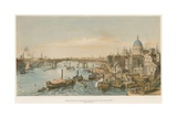 Southwark Bridge from London Bridge Giclee Print by William Parrott
