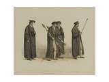 Vice Chancellor, Esquire Beadle, Yeoman Beadle, Verger, Engraved by J. Agar, Published in R.… Giclee Print by Thomas Uwins