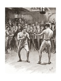 Bare-Knuckle Boxing in the 19th Century. Aka Bare-Knuckle, Prizefighting, or Fisticuffs, it Was… Giclee Print