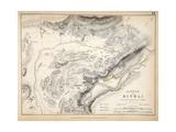 Map of the Battle of Rivoli, Published by William Blackwood and Sons, Edinburgh and London, 1848 Giclee Print by Alexander Keith Johnston