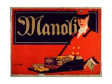 Advertisement for Manoli Cigarettes Giclee Print by Hans Rudi Erdt