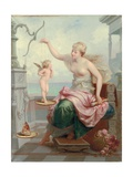Weighing Cupid Against a Butterfly Giclee Print by Henri Pierre Picou