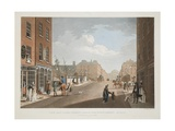 View from Capel-Street, Looking over Essex-Bridge, Dublin, 1797 Giclee Print by James Malton