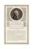 Portrait of Charles-Francois Lebrun, Duc De Plaisance Giclee Print by Jean Duplessi-Bertaux