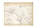 Map of the Battle of Arcole, Published by William Blackwood and Sons, Edinburgh and London, 1848 Giclee Print by Alexander Keith Johnston