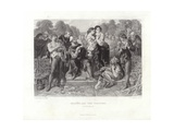 Orlando and the Wrestler Giclee Print by Daniel Maclise