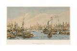 The Pool, Looking Towards London Bridge Giclee Print by William Parrott