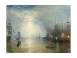 J. M. W. Turner - Keelmen Heaving in Coals by Moonlight, 1835 - Giclee Baskı