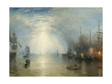 Keelmen Heaving in Coals by Moonlight, 1835 Impressão giclée por J. M. W. Turner