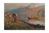 Date by the Fjord Giclee Print by Hans Andreas Dahl