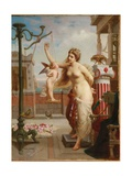 Weighing Cupid Giclee Print by Henri Pierre Picou