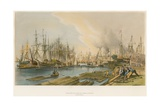 Ship Building at Limehouse, the President on the Stocks Giclee Print by William Parrott