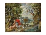 The Creation of Adam, from the Story of Adam and Eve Giclee Print by Jan the Younger Brueghel