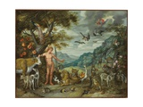 Adam Naming the Animals, from the Story of Adam and Eve Giclee Print by Jan Brueghel the Younger