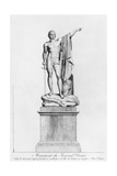 Design for a Monument to General Desaix De Veygoux by the Sculptor Claude Dejoux, Place Des… Giclee Print