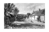 Burn's Cottage, Illustration from 'Land of Burns' by John Wilson, Published 1840 Giclee Print by David Octavius Hill