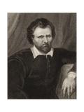 Ben Jonson Giclee Print by Cornelius Jansen