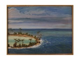 Triptych of an Atoll, 1871 Giclee Print by Ernest Henry Griset