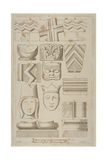Fragments of Stone Carving from the Abbey of St Saviour in Bermondsey Giclee Print by James Basire