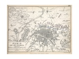 Map of Paris and its Environs, Published by William Blackwood and Sons, Edinburgh and London, 1848 Giclee Print by Alexander Keith Johnston