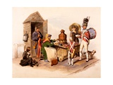 A Sallop Seller Serving Heated Hot Drinks, from 'The Costumes of Great Britain', 1808 Giclee Print by William Henry Pyne