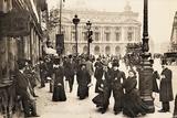 Place De L'Opera, Paris, C.1900 Photographic Print