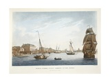 Marine School, Dublin, Looking Up the Liffey, 1796 Giclee Print by James Malton