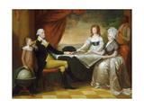 The Washington Family, 1789-1796 Giclee Print by Edward Savage