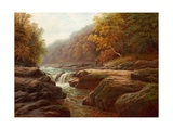 A River Scene with Anglers Giclee Print by William Mellor