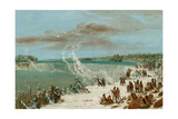 Portage around the Falls of Niagara at Table Rock, 1847- 48 Giclee Print by George Catlin