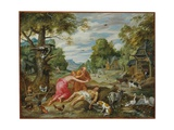 The Death of Abel, from the Story of Adam and Eve Giclee Print by Jan the Younger Brueghel
