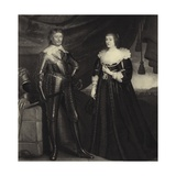 Frederick Henry and Amalia Giclee Print by Gerrit van Honthorst