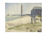 The Lighthouse at Honfleur, 1886 Giclee Print by Georges Pierre Seurat