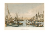 London Bridge, from the Pool Giclee Print by William Parrott
