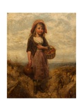 Girl with a Basket of Apples Giclee Print by Edward John Cobbett