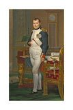 The Emperor Napoleon in His Study at the Tuileries, 1812 Giclee Print by Jacques-Louis David
