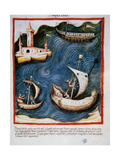 Tacuinum Sanitatis. Boats at Sea Giclee Print