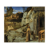St. Francis of Assisi in the Desert, C.1480 Giclée-tryk af Giovanni Bellini