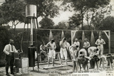 Hygiene at the Front, Soldiers Having a Shower, First World War, 1914-18 Photographic Print