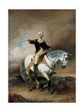 Portrait of George Washington Taking the Salute at Trenton Giclee Print by John Faed