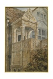 The Garden Porch, Coombe Abbey, C.1840 Giclee Print by Charles James Richardson