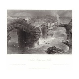 Natural Bridges Near Kilkee Giclee Print by William Henry Bartlett