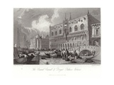 The Grand Canal and Doge's Palace Giclee Print by Samuel Prout