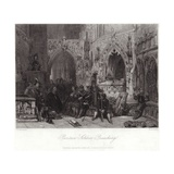 Puritan Soldier Preaching Giclee Print by George Cattermole