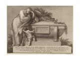 Funeral Ticket of Sir Joshua Reynolds Giclee Print by Edward Francis Burney