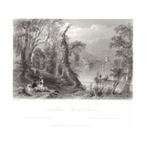 Innisfallen, Lake of Killarney Giclee Print by William Henry Bartlett