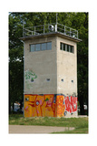 Grenzwachturm. Watch Tower. Border Strip of Berlin Wall. Germany Giclee Print
