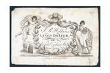 J R Wilkins, Linen Draper, Trade Card Giclee Print